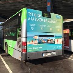 Mataró descoberta bus platja publi E2S Cardona